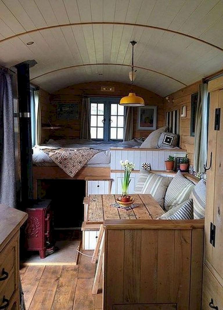 82+ Inspiring RV Camper Van Interior Design and Organization Ideas
